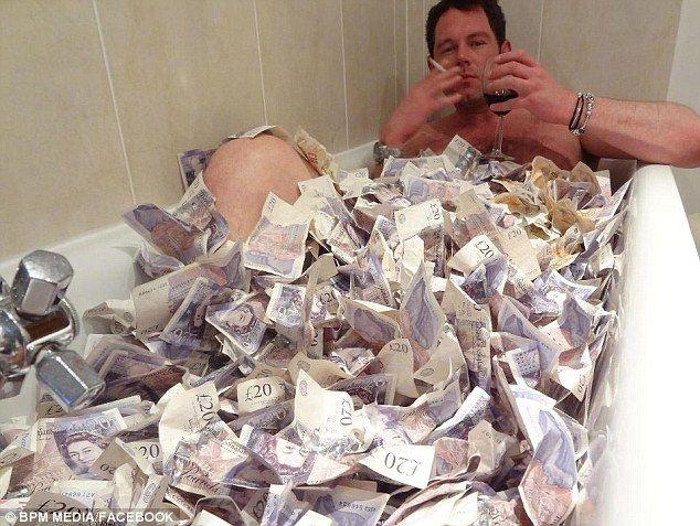 Image result for money bath