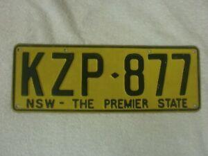 AUSTRALIA NEW SOUTH WALES THE PREMIER STATE # KZP-877 RARE LICENSE PLATE    eBay