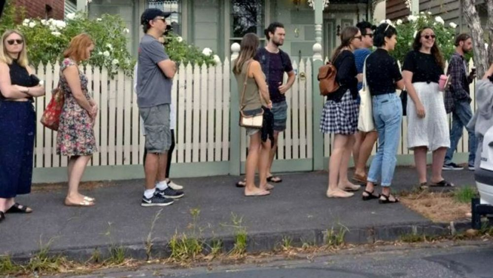 There is already stiff competition for rentals in Melbourne, with people lining up to view a property in Brunswick earlier this year.