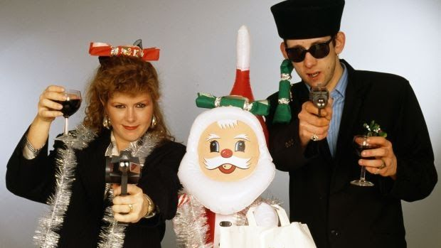Happy Christmas your arse: Kirsty MacColl and Shane MacGowan. Photograph: Tim Roney/Getty