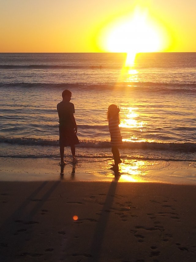 Secret Harbour Beach, sunset