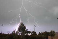 lightening on Christmas day in Melbourne