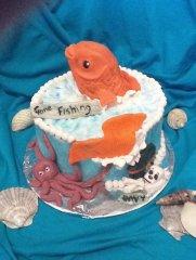 Gone fishing cake:D:D:D