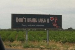 Road signs in Adelaide - Classic!