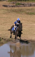 Water jump for real - I do water at a gallop now - easy-peasy !!