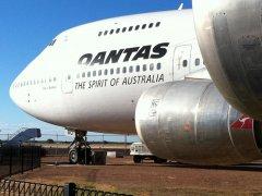 First Qantas 747