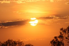 Sunset nr Mt Mulligan