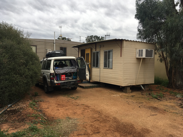 Our working cabin in Waikerie, SA